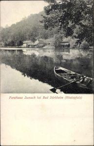 Ak Bad Dürkheim am Pfälzerwald, Forsthaus Isenach, Boot