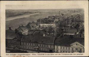 Ak Jelgava Mitau Lettland, Blick über die Dächer der Stadt, Aatal von der Trinitatiskirche