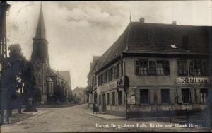 Ak Bad Bergzabern im Kreis Südliche Weinstraße, Katholische Kirche, Hotel Zum Rössel