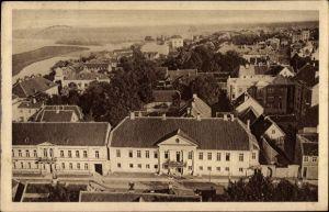 Ak Jelgava Mitau Lettland, Adelsklub, Blick über die Dächer der Stadt