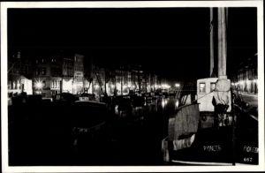 Ak København Kopenhagen Dänemark, Nyhavn, Sailor's Paradise at night, ship Pioneer