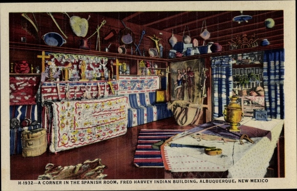 Ak Albuquerque New Mexico USA, Fred Harvey Indian Building, Spanish Room