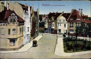 Ak Krefeld am Niederrhein, Straßenpartie vom Beckerathplatz aus