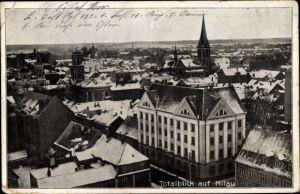 Ak Jelgava Mitau Lettland, Blick über die Dächer der Stadt, Winter