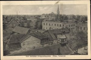 Ak Jelgava Mitau Lettland, Blick über die Dächer der Stadt