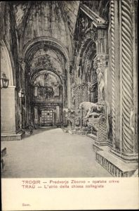 Ak Trogir Kroatien, Inneres der Kirche