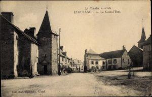 Ak Eygurande Corrèze, La Grand Rue