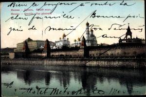 Ak Moskau Russland, Kremlin, Vue générale