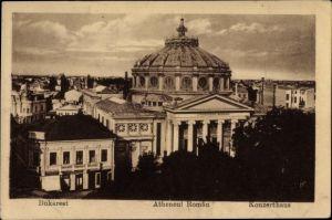 Ak București Bukarest Rumänien, Konzerthaus, Atheneul Roman