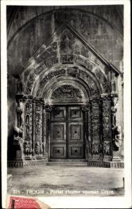 Ak Trogir Kroatien, Portal zborno opatske Crkve