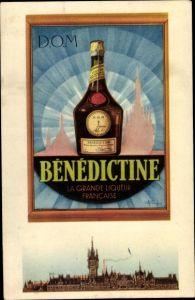 Künstler Ak D.O.M., Bénédictine, la Grande Liqueur Francaise, Kräuterlikör, Reklame