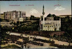 Ak Konstantinopel Istanbul Türkei, Le Selamlik, Moschee, Minarett