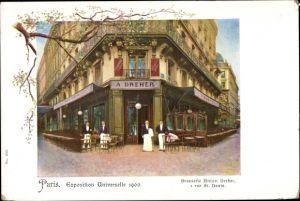 Ak Paris, Exposition Universelle, Weltausstellung 1900, Brasserie Anton Dreher, rue Saint Denis