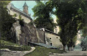 Ak Loretto im Burgenland, Partie an der Kirche