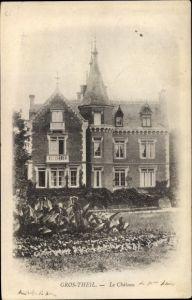 Ak Gros Theil Eure, Le Chateau, jardin
