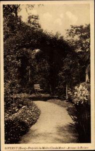Ak Giverny Eure, Propriete du Maitre Claude Monet, Arceaux de Rosiers