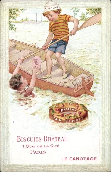 Künstler Ak Biscuits Brateau, Pain d'Epices, Le Canotage