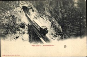 Ak Pilatusbahn, Wolfortsviadukt, Aufstieg, Tunnel
