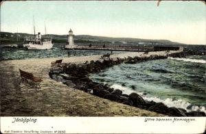 Ak Jönköping Schweden, Yttre hamnen, Hamnkajen, Leuchtturm