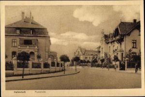 Ak Helmstedt in Niedersachsen, Partie in der Poststraße