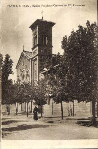 Ak Castel Sant'Elia Lazio, Basilica Pontificia e Convento dei PP. Francescani