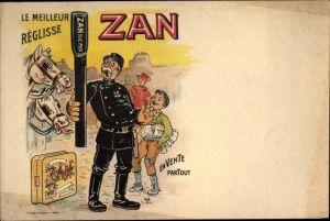 Künstler Ak Le Meilleur Reglisse Zan, Polizist, Lakritzstange, Pastillen