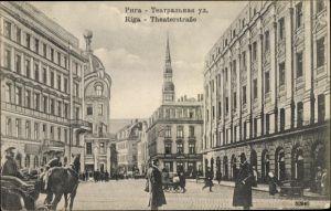Ak Riga Lettland, Theaterstraße