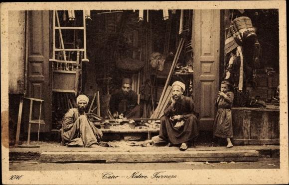 Ak Cairo Kairo Ägypten, Native Turners, Drechsler