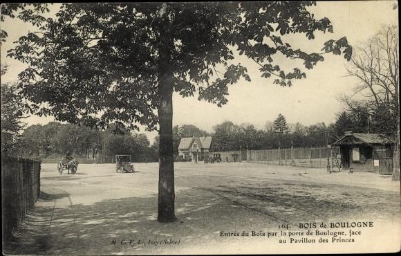 Ak Paris Passy, Bois de Boulogne, Entrée du Bois par la porte de Boulogne