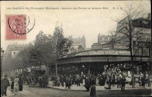 Ak Paris XVII., Les Magasins de l'Economie Menagere, Avenue des Ternes et Avenue Niel