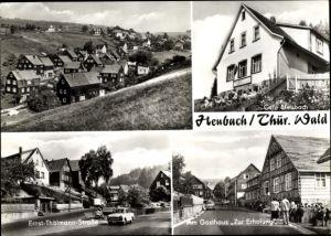 Ak Heubach im Thüringer Wald, Ernst Thälmann Straße, Gasthaus Zur Erholung, Café Heubach
