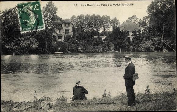 Ak Valmondois Val d'Oise, Les Bords de l'Oise, Anlger
