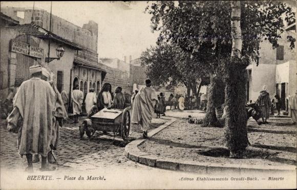 Ak Bizerte Tunesien, Place du Marché