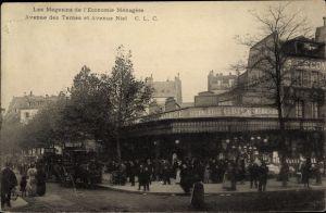 Ak Paris XVII., Les Magasins de l'Economie Ménagère, Avenue des Ternes, Avenue Niel