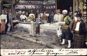 Ak Marchand de Kebabs, Türken, Koch, Trachten