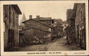 Ak Oradour sur Glane Haute Vienne, Rue des Bordes