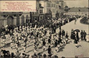 Ak Troyes Aube, Grand Concours Régional de l'Est 1912, Défilé Place de la Préfecture