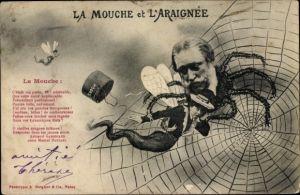 Ak La Mouche et l'Araignée, Die Fliege und die Spinne
