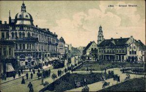 Ak Liepaja Libau Lettland, Große Straße