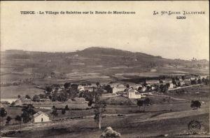 Ak Tence Haute Loire, Le Village de Salettes sur la Route de Montfaucon