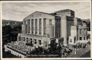Ak Teplice Teplitz Schönau Reg. Aussig, Blick auf das Stadttheater