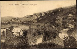 Ak Lustin Wallonien Namur Belgien, Les Rochers et Tunnel de Frêne