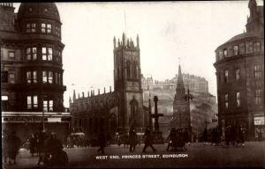 Ak Edinburgh Schottland, West End, Princes Street