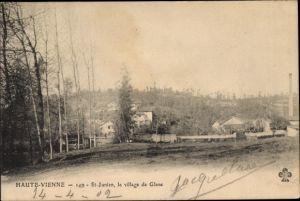 Ak Saint Junien Haute Vienne, le village de Glane