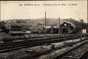 Ak Évreux Eure, Chemins de fer de l'Etat, Le Depot