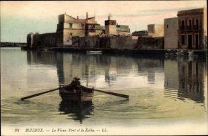 Ak Bizerte Tunesien, Le Vieux Port et la Ksiba, Ruderboot