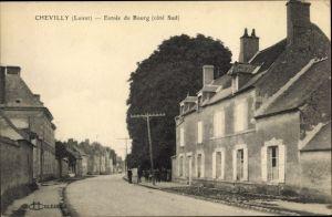 Ak Chevilly Loiret, Entrée du Bourg, cote sud