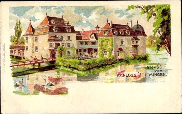 Litho Bottmingen Kt. Basel Land Schweiz, Schloss