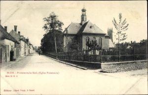 Ak Sluis Zeeland Niederlande, Protestantsche Kerk