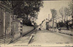 Ak Laroche Migennes Yonne, La Rue du Canal